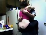 Teen Has A Quickie In The Kitchen