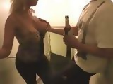Drunk Blonde With Big Tits Fucked On The Stairs And Splashed With Sperm In the Face
