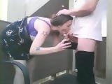 Brunette Fucks Her BF On The Balcony