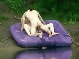 Honry Amateur Couple Fucks By The Lake Totally Unaware That Voyeur Is Spying