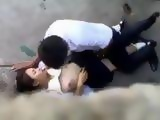 Asian Students Secretly Taped Fucking Outdoors