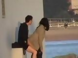 Amateur Couple Fucking On The Docks Not Being Aware Of A Hidden Cam