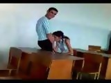 Colombian College Girl Caught Giving Head In A Classroom