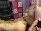 Two Blondes In A Exciting Webcam Lesbian Show