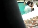 This Two Did Not Know That Someone Is Filming Their Action In The Pool