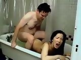 Skinny Amateur Asian Girl Fucked In a Bathtub By White Man