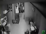 Security Cam Tapes Door Humper Girl At Work
