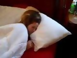 Sleeping Teen Awaken With Hard Big Cock Next To Her Face