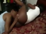 Homemade Afroamerican Threesome With Lesbian Wife and Her Girlfriend