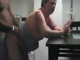 Lonely Housewife Cheating On Her Hubby With Her Neighbor In The kitchen