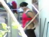 Voyeur Tapes Mature Indian Woman Changing Clothes On Terrace