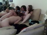 Amateur Teenage College House Party Turns Into Homemade Web Cam Orgy With Friends