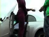 Amateur Paid Sex With Real Ebony Hooker In The Car