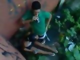 Amateur Latino American Teen Blowjob In the Backyard Taped From The Roof
