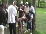 100s of Black Guys Fucking Black Hookers In Public Park
