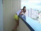 Amateur Teen Fucked On A Balcony