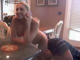 Horny Husband Banging His Wife From Behind While She Phoned With Her Mom