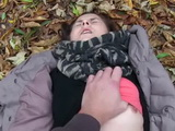 Teen Girl Gets Paid To Show Her Tits And Before She Knows It She Was Fucked In A Public Park